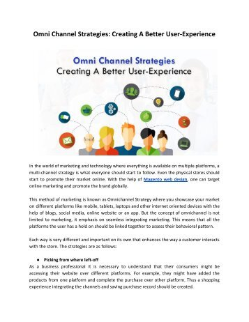 Omnichannel : The God of Marketing