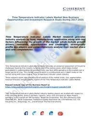 Time Temperature Indicator Labels Market New Business Opportunities and Investment Research Study During 2017-2025