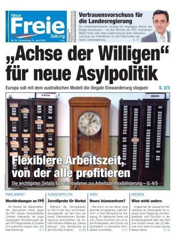 """""""Achse der Willigen"""" für neue Asylpolitik"""