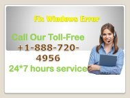 Windows Fix Error +1-888-720-4956