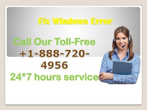Windows Fix Error +1-888-720-4956
