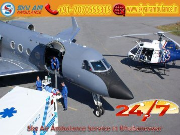 Receive Sky Air Ambulance at a Low Cost in Bhubaneswar