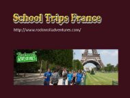 School Trips France - Rocknrolladventures.com