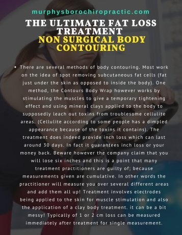 The Ultimate Fat Loss Treatment - Non Surgical Body Contouring