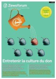 Zewoforum 1 | 2018: Entretenir la culture du don