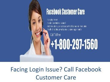 Facing Login Issue, Call Facebook Customer care Number +1-800-297-1560