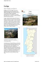 Loriga Wikipédia - Artigo criado pelo historiador António Conde