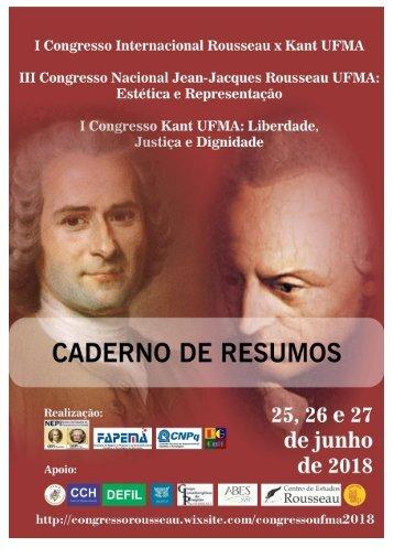 Caderno de Resumos Congresso Rousseau x Kant