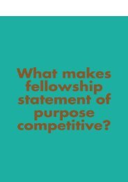 What Makes Fellowship Statement of Purpose Competitive