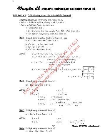 Phương trình bậc hai và hệ thức viét & Tuyển tập đề thi HSG Toán 8