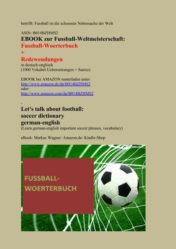 Learn German Fussball Soccer Vocabulary