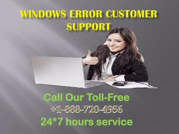 Windows Error Customer Support +1-888-720-4956