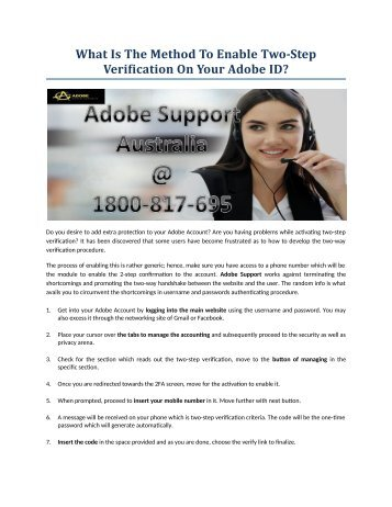 What Is The Method To Enable Two-Step Verification On Your Adobe ID?