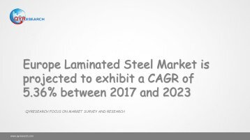 Europe Laminated Steel Market is projected to exhibit a CAGR of 5.36