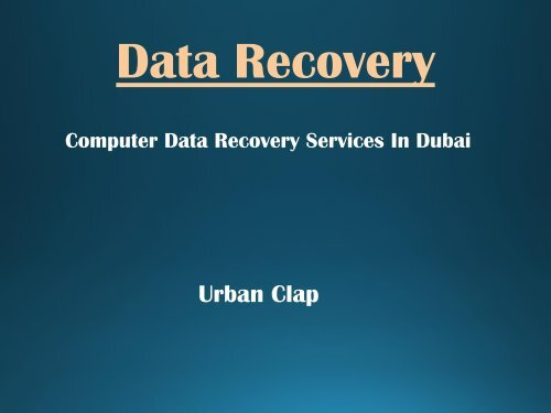 Best Data Recovery Services Available In Dubai, Call us at 0544474009.