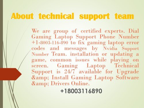 Nvidia Support Number +1-8003-116-890