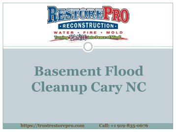 Basement Flood Cleanup Cary NC