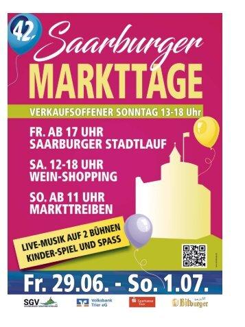 Saarburger Markttage 29.06.-01.07.2018