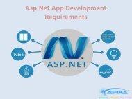 Asp.Net App Development Requirements