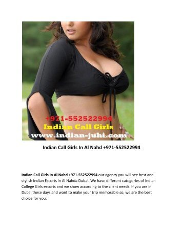 Indian Call Girls In Al Nahda Dubai +971-552522994