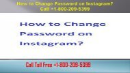 How to Change Password on Instagram? +1-800-209-5399