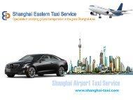 Enjoy Shanghai Airport Taxi service