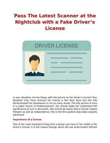 Pass The Latest Scanner at the Nightclub with a Fake Driver's License