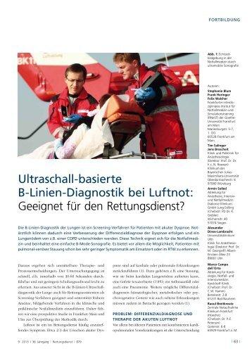 Blum et al. und B-Linien Diagnostik mit Filmen nach Breitkreutz RettungsDienst_Ausgabe_9-2013
