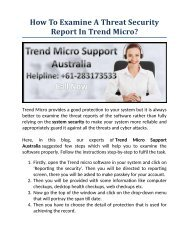 How To Examine A Threat Security Report In Trend Micro