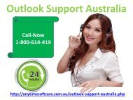 Outlook Support Australia 1-800-614-419|Email Problems