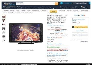 XP-Pen Tavoletta Grafica Artist 22E Pro con Monitor HD IPS per Disegno