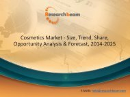 Cosmetics Market - Size, Trend, Share, Opportunity Analysis & Forecast, 2014-2025