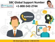 SBC Global Support Number +1-800-542-2744