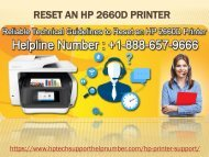 Reset an HP 2660D Printer