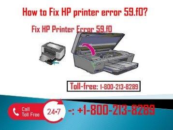 1-800-213-8289 Fix HP printer error 59.f0