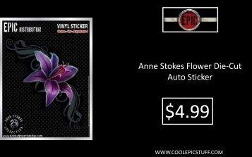 Anne Stokes Flower Die-Cut Auto Sticker - Cool Epic Stuff