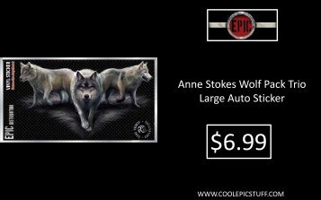 Anne Stokes Wolf Pack Trio Large Auto Sticker - Cool Epic Stuff