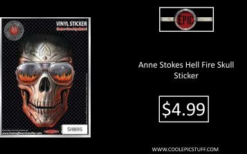 Anne Stokes Hell Fire Skull Sticker - Cool Epic Stuff