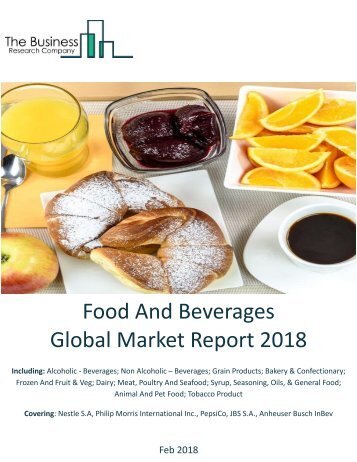 Food And Beverages Global Market Report 2018