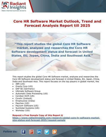 Core HR Software Market Competitive Landscape and Forecast Report till 2025