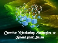 Creative Marketing Strategies to Boost your Sales
