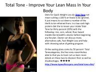 Total Tone - Improve Your Lean Mass In Your Body