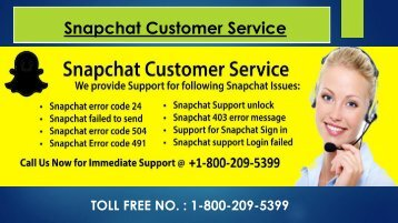 Snapchat Support Phone Number, Dial 1-800-209-5399