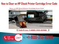 1-800-213-8289 Clear an HP Check Printer Cartridge Error Code