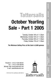 Tattersalls October Yearling Sale - Part 1 2005