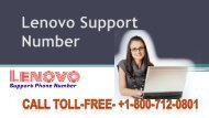 Dial Lenovo Support Number +1-800-712-0801 (Toll-Free)