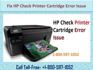 fix HP Check Printer Cartridge Error Issue (1-800-597-1052)