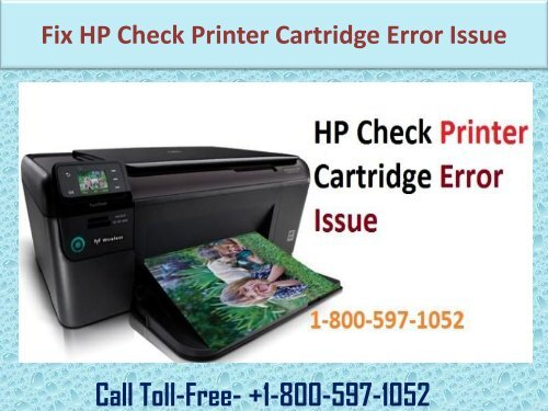 fix HP Check Printer Cartridge Error Issue (1-800-597-1052)
