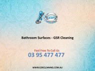 Bathroom Surfaces - GSR Cleaning