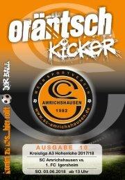 Ausgabe 10 / SCA - 1. FC Igersheim